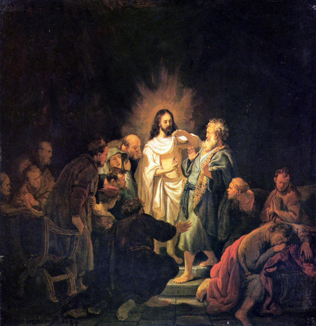 The unbelieving Thomas [1] - Rembrandt